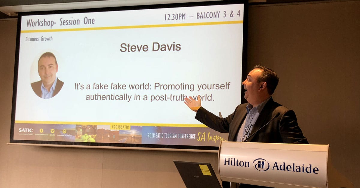Steve Davis and the Start With Why process had its roots in a presentation I did on being authentic in a fake world for TiCSA
